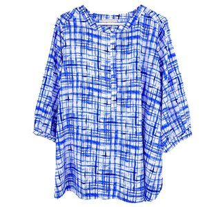 Woman Within pop over blouse size 14/16 top shirt